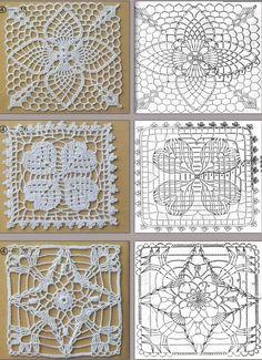Abacaxi Crochet, Trevo e Estrela Motivos! / Crochet Pineapple, Clover and Star Motifs!