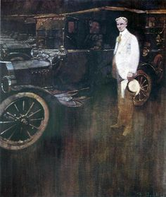 Bernie Fuchs illustration of Henry Ford