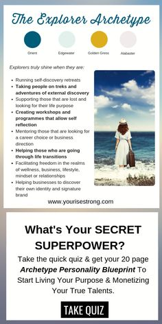 """Take the quiz to receive your page """"Soul Brand Blueprint"""". Discover Your Natural Talents That Lead To Your Profitable Life Purpose Personality Archetypes, Jungian Archetypes, Brand Archetypes, Superpower Quiz, Themes Photo, Break Free, Digital Marketing Strategy, Self Discovery, Life Purpose"""
