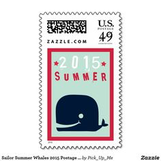 Sailor Summer Whales 2015 Postage Stamps