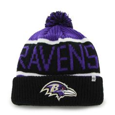 san francisco ebe2d 244dd Baltimore Ravens Calgary Cuff Knit Purple 47 Brand Hat