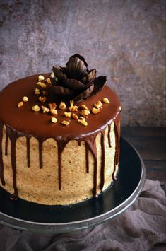 Fahéjas diótorta full extrásan :)   Sweet & Crazy Cookie Recipes, Dessert Recipes, Sweets Cake, Mousse Cake, Drip Cakes, Cake Tutorial, Cakes And More, Cake Designs, Sweet Recipes