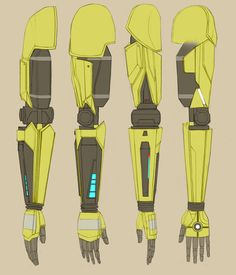 Ref for Rhys' arm! From left to right: front view, side view, back view, and inside view*. Hope this is helpful to someone :)*the inside view of the arm (especially the upper half) should be taken with a grain of salt, since I didn't have a clear shot of it, but it shouldn't be too off the mark