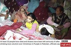 Pakistan-Toxic liquor kills at least 32