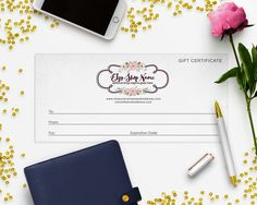 Gift Certificate Printable - Gift Certificate Download - Printable Gift Certificate - Gift Card - Logo Style - 2-16IL b by RhondaJai on Etsy