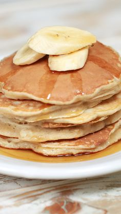 Fun Baking Recipes, Baby Food Recipes, Cooking Recipes, Shrimp Recipes, Healthy Breakfast Recipes, Brunch Recipes, Banana Pancake Recipes, Pancakes With Banana, Healthy Banana Pancakes