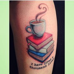 Coffee and a good book #tattoo