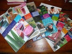 I manuale del benessere lotto di 8 libri: 01 - Rinforzare le difese, 02 - Dimagrire e mantenere il peso forma. Pilates e....