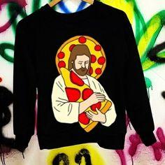 2014 harajuku pizza of god sweater sweatshirt.two colors available
