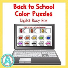 This fun digital busy box is perfect for online instruction or distance learning with your preschool, pre-k, or kindergarten kiddos! It works with multiple platform and in the classroom for practice matching colors! #mrsasroom School Resources, Learning Resources, Teaching Ideas, Preschool Color Activities, Color Puzzle, Matching Colors, Busy Boxes, Group Work, Learning Colors