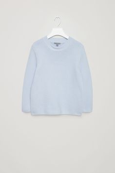 COS image 2 of Textured knit jumper in Powder Blue