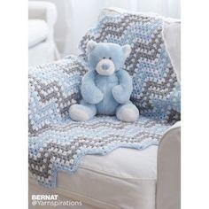 Free Easy Crochet Baby Blanket Pattern | Bernat | Yarnspirations | Free Pattern