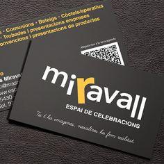 #Branding - Creación de marca - #Diseño identidad visual.  Logotipo + Tarjetas de visita.  Projecte redissseny de marca per Miravall.