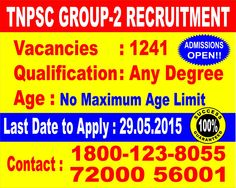 TNPSC Group-II Openings In T Nagar