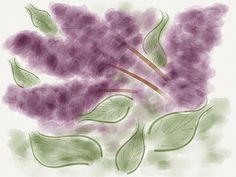 25 May 2012 - Lilacs   A sketch of the purple lilacs on the tree outside our apartment, using the FiftyThree Paper app for my new iPad.    Done completely (and literally) by hand - or more accurately, by finger - no stylus yet!