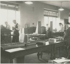 WPA Project Number 123 - Workers printing booklists at the Enoch Pratt Free Library in Baltimore