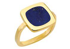 or jaune et lapis-lazuli de Dinh Van Stone Rings, Stone Jewelry, Diamond Jewelry, Jewelry Rings, Jewelry Box, Jewellery, Bracelet Rose Des Vents, Bijoux Lapis Lazuli, Stone Ring Design