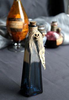 hag poison, halloween poison bottles, potion bottl, skull head