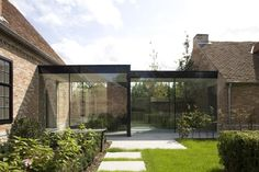Exterior Stone House Modern Walkways Ideas For 2019 Residential Architecture, Contemporary Architecture, Architecture Design, Design Hotel, House Design, Glass Walkway, Cottage Extension, Glass Extension, Box Houses