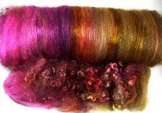 Firecracker Wild Card Bling Batt for spinning and by yarnwench, $23.00
