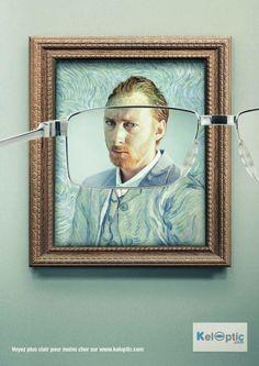 Van Gogh diventa più nitido con gli occhiali   #guerrillamarketing #VanGogh #arte