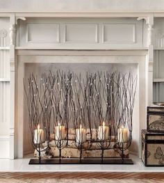 Add drama on a grand scale to a mantel or tabletop. This makes a perfect gift for those with nonworking fireplaces