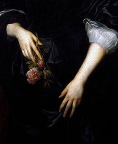 "jaded-mandarin: "" "" Dorothy, Lady Dacre by Sir Anthony Van Dyck (detail) "" """