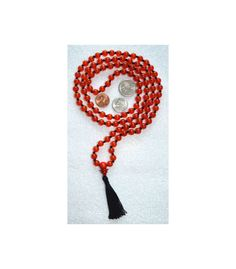 108 Red Jade Hand Knotted Mala Beads Necklace Blessed Ener | eBay