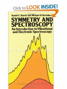 Symmetry and Spectroscopy: An Introduction to Vibrational and Electronic Spectroscopy (Dover Books on Chemistry) by Daniel C. Harris. $10.76. Author: Daniel C. Harris. Publication: November 1, 1989. Publisher: Dover Publications (November 1, 1989)
