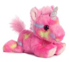 "7"" Jellyroll Pink Unicorn Plush Stuffed Animal Toy"