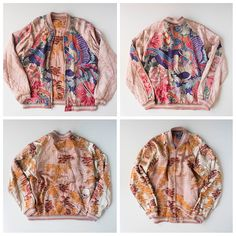 Japanese Wagara Nishijin Kumono Silk Phoenix Dragon Hawk Eagle Bird Wagara Autumn Koyo Skull Skeleton Pink Sukajan - Japan Lover Me Store