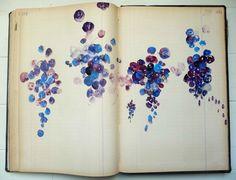 Veronique Grosseil sketchbook grapes