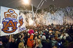Rolling Toomer's Corner after defeating Oregon for the BCS National Championship