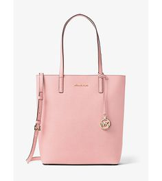Hayley large top-zip leather tote by MICHAEL Michael Kors.