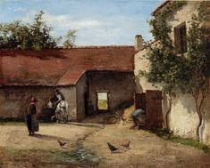 Camille Pissarro - Farmyard, 1863
