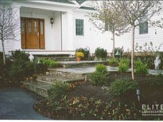 Entries & Walkways| Flagstone Steps and Stone Risers | Poughkeepsie, NY: Elite Landscaping Inc.