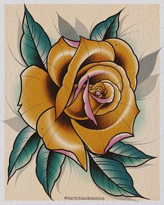 """Darin Blank trên Instagram: """"I've been using this self quarantine time to learn more about coil machines. Who knows, maybe after this is all over I'll be able to build…"""" Neo Traditional Roses, Traditional Tattoo Flowers, Traditional Tattoo Old School, Traditional Tattoo Flash, American Traditional, Flower Tattoo Drawings, Flower Tattoos, Leg Tattoos, Flash Tattoos"""