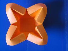 Origami poesie di carta: Vaso con petali