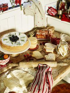 Decoração de Natal - mesa branco e vermelho - Coleção de Natal Zara Home 2015