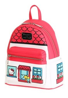 Stay trendy with this Loungefly Hello Kitty Faux Leather Mini Backpack! This mini backpack is the perfect accessory for any Hello Kitty fan! Hello Kitty Gifts, Hello Kitty House, Backpack Straps, Mini Backpack, Loungefly Hello Kitty, Kids Bags, Plush, Backpacks, Purses