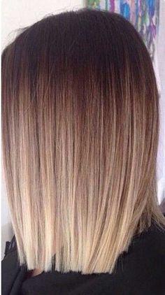 12.Ombre color para el pelo corto                                                                                                                                                      Más #peinadospelocorto