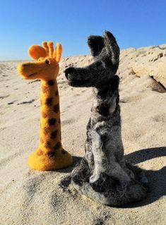GfK-WoGi 7 Wolf, Giraffe, Animals, Felting, Figurine, Display Window, Purchase Order, Animais, Animales