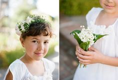 On the left: Little bouquet for flower girl