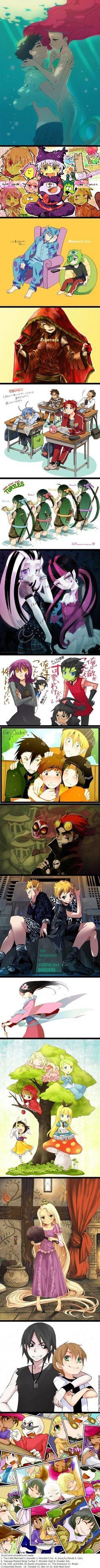 CartooN /DisNeY ---> Anime, makes everything look even better😄