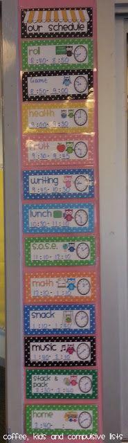 Coffee, Kids and Compulsive Lists: Classroom Set-up