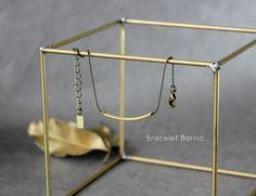 WARM MY SOUL - Bracelet Barrio fine chaine bille et tube doré.