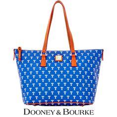 Texas Rangers MLB Signature Zip Top Shopper by Dooney & Bourke - MLB.com Shop