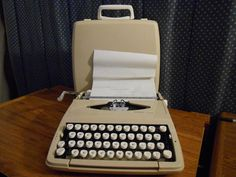 Vintage 1967 Sears Scout Portable Manual Typewriter by KazmyrsKollectibles on Etsy