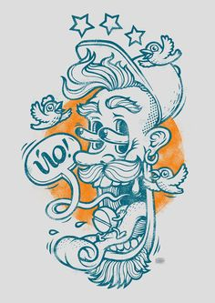 Yo | Illustration by Oleg Gert, via Behance