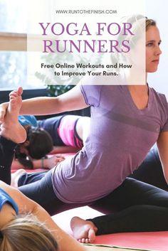Triathlon Training, Marathon Training, Running Workouts, Running Tips, Upper Body Workout For Women, Yoga For Runners, Namaste Yoga, Fitness Design, Online Yoga